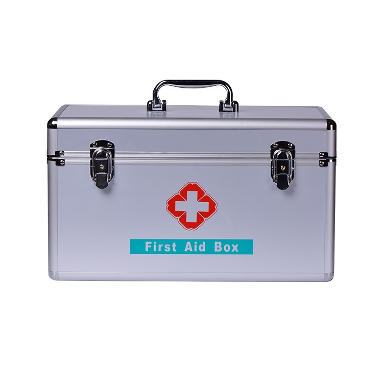 China Supplier Two Tier Large First Aid Kit Carry Box With Shoulder